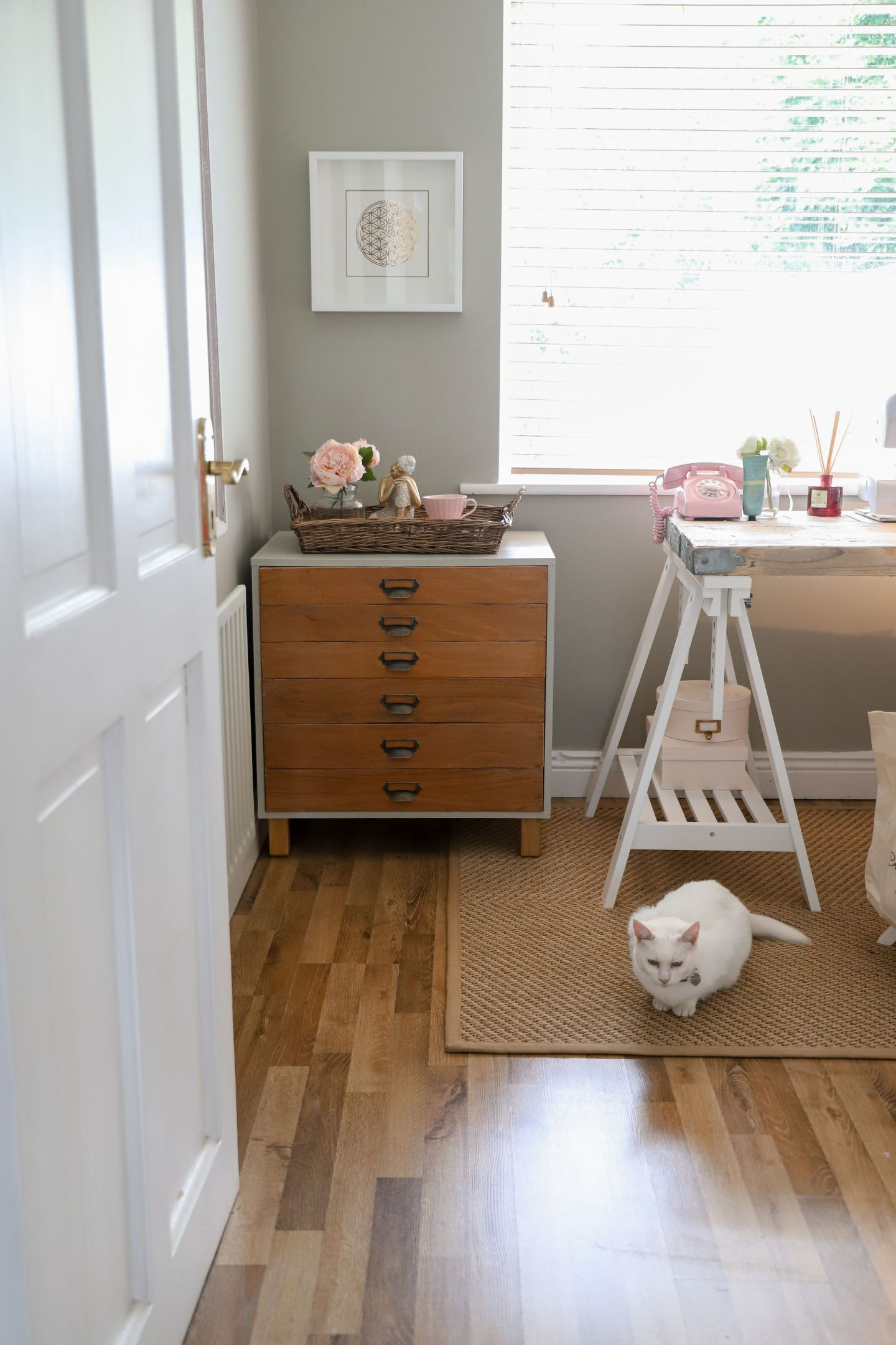 Home office craft room makeover