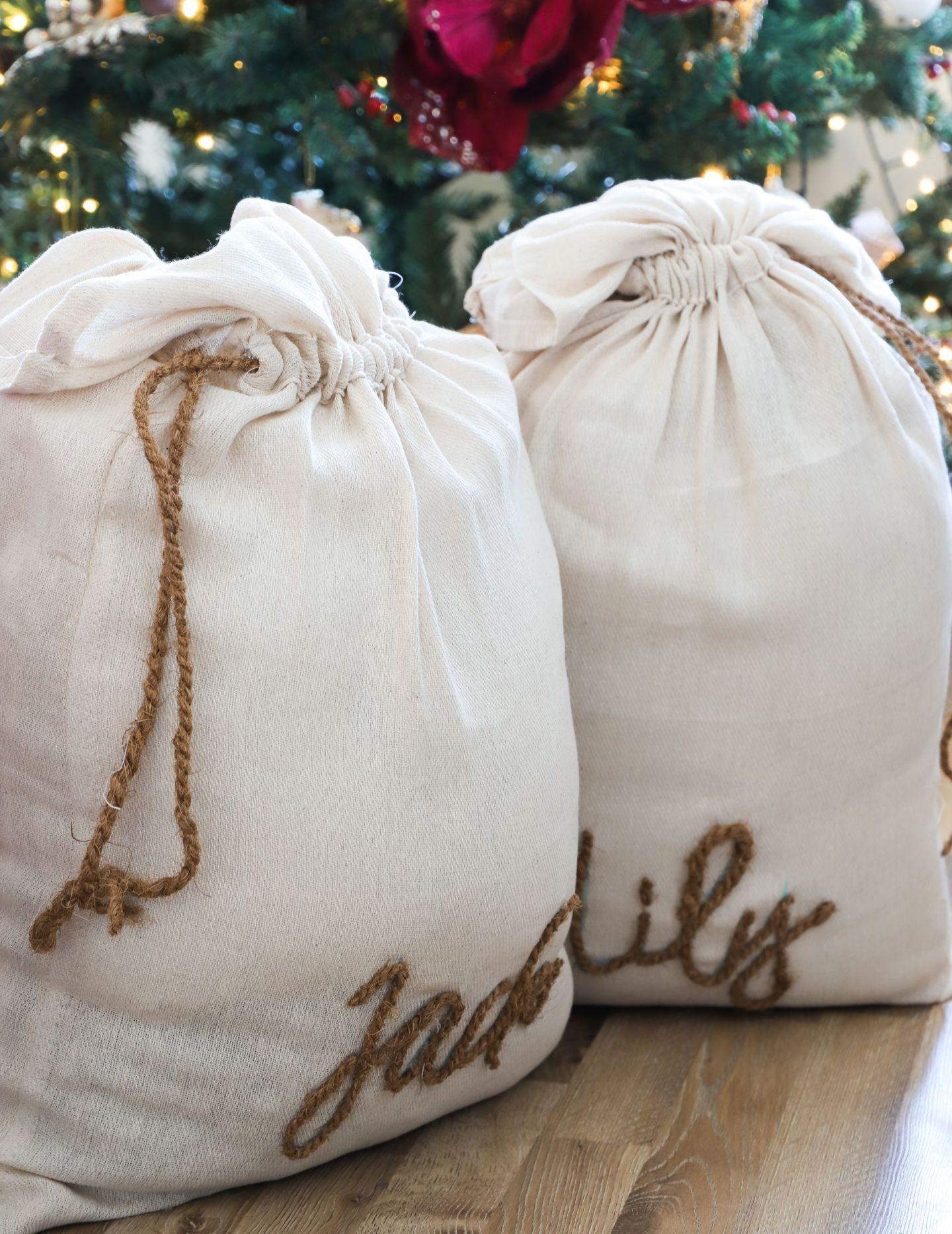DIY Personalised santa sacks
