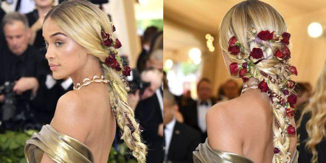 hbz jasmine sanders roses hair 1525732236 - La Trenza de Jasmine Sanders para la Gala MET
