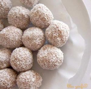 coconut truffles with orange