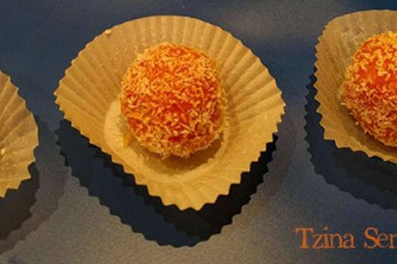 coconut truffles with carrot