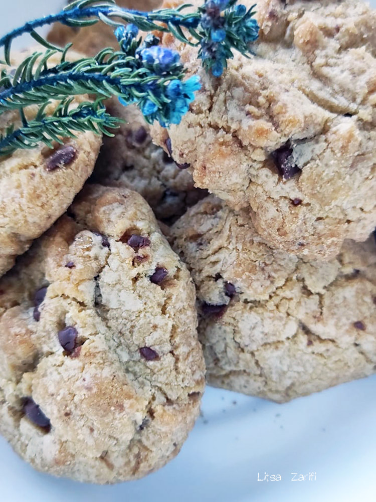 cookies with olive oil and brown sugar