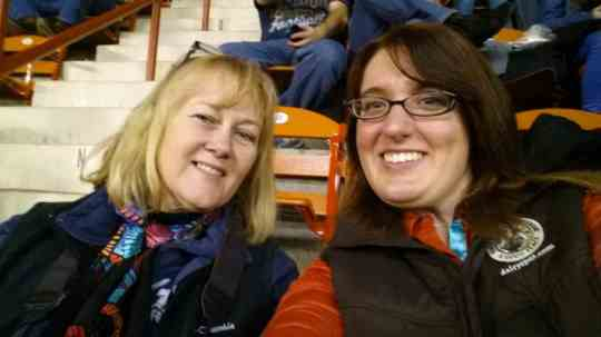 My friend Sherry and I snapped a selfie while watching the High School Rodeo at the PA Farm Show.