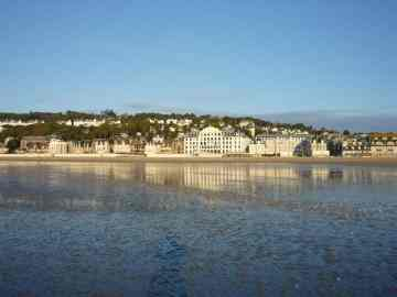 The beach in Trouville-sur-Mer was quiet and serene in September.