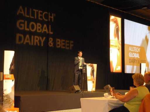Aiden Connolly, CIO of Alltech welcoming us to the conference.