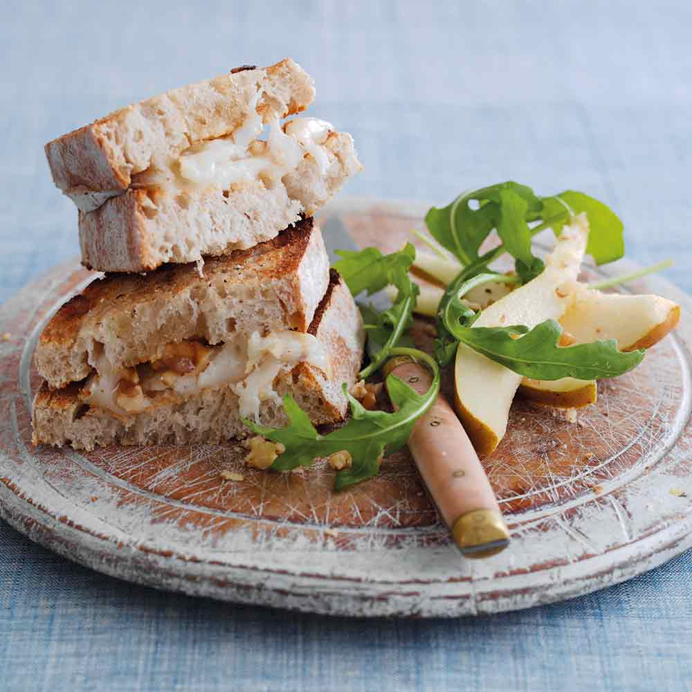 Goat's Cheese, Honey and Walnut Toast
