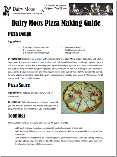 Dairy Moos Pizza Guide
