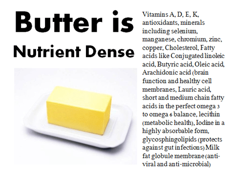 Butter is Nutrient Dense