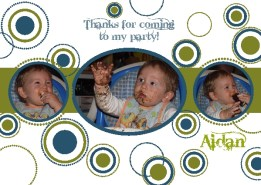 Birthday Party - Circles thank you