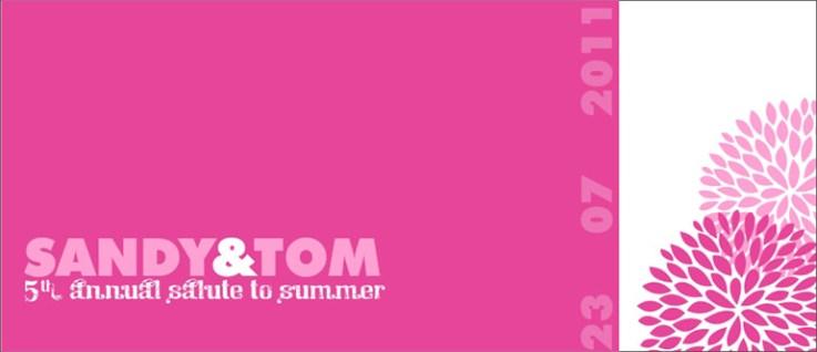 Summer Fun party invite cover