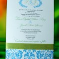 Blue Damask invite