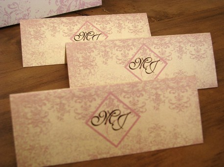 Antique Gold - place cards