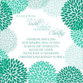 Bridal Shower Daisy Burst Emerald