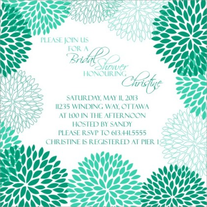 Bridal Shower Daisy Burst Emerald