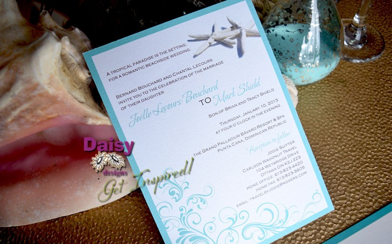 Sparkling Waters 5x7 invite