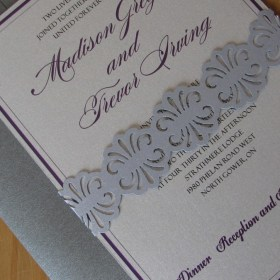 Sterling Sash Invitation Close-up
