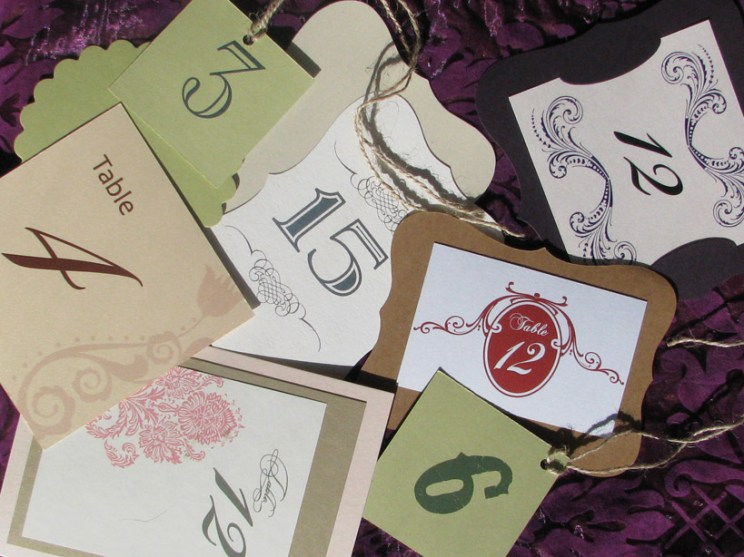 Assorted Table Numbers and Tags