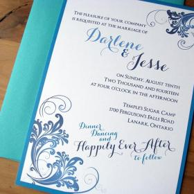 50 Shades of Blue invite close-up