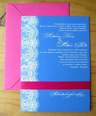 Cobalt Lace invite
