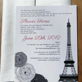Eiffel Tower Shower Invitation