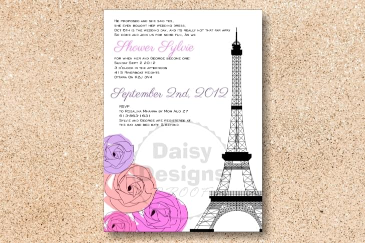 Eiffel Shower - colour flowers