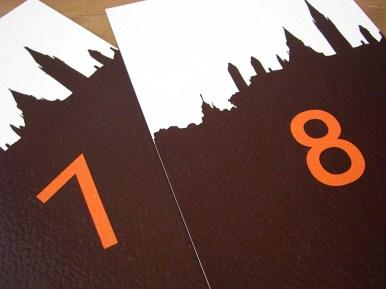 Ottawa Skyline Table Numbers