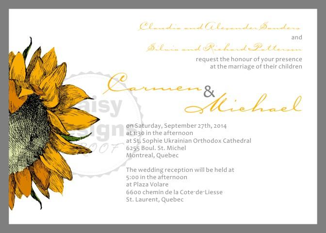 September Sun Invite