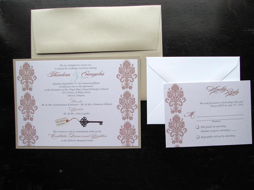 Key To My Heart Wedding Invitations By Daisy Designs