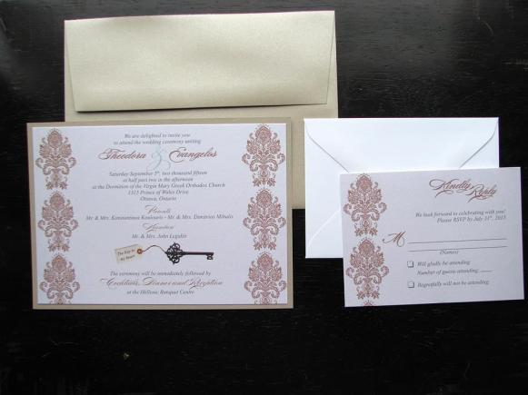 key to my heart invitation package