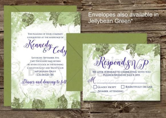Woodland Wonder invite and revp with envelope