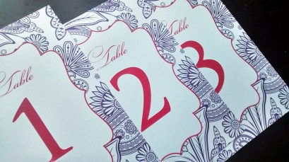 Pearsian Paisley Table Numbers