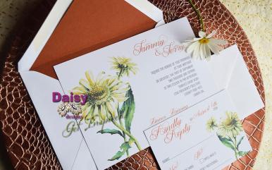 Double Daisy invite / rsvp