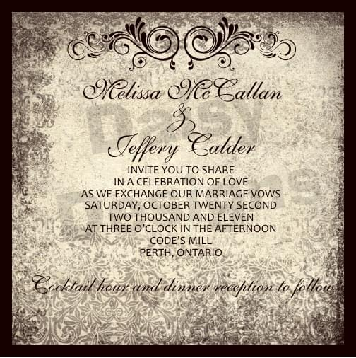 Antique gold - dark invite