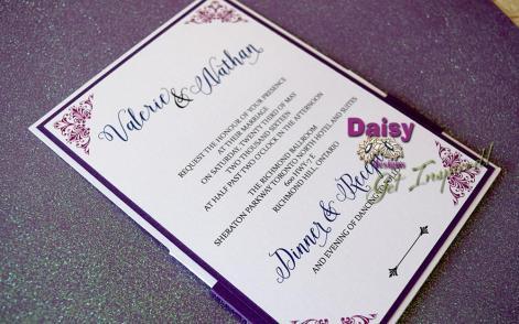 Plum Lace Pocket Invite