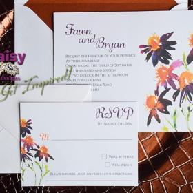 Saffron Daisy invite/rsvp