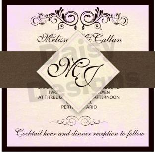 Antique subtle with band and monogram