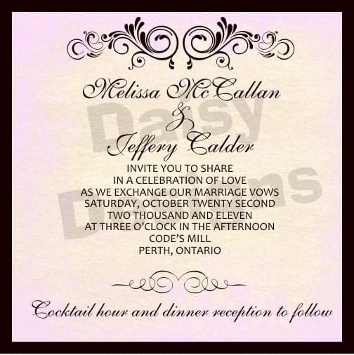 Antique subtle invite