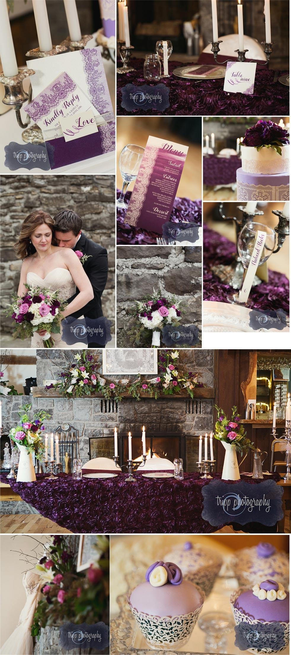 Majestic Purple Photo Collage