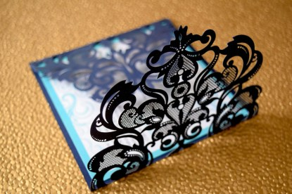 Laser-Cut Blue Gate-fold