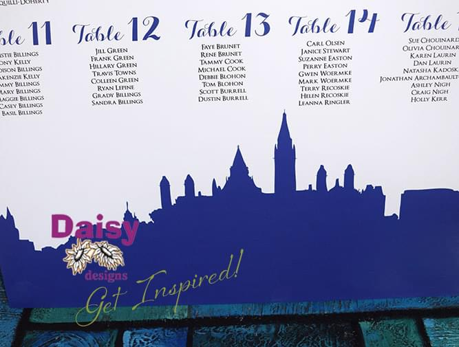 Bytown Skyline Seating Chart close-up