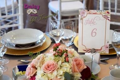 Blush Champagne Table Number