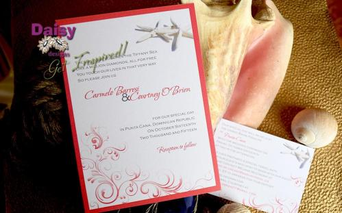 Coral Starfish Invite and RSVP