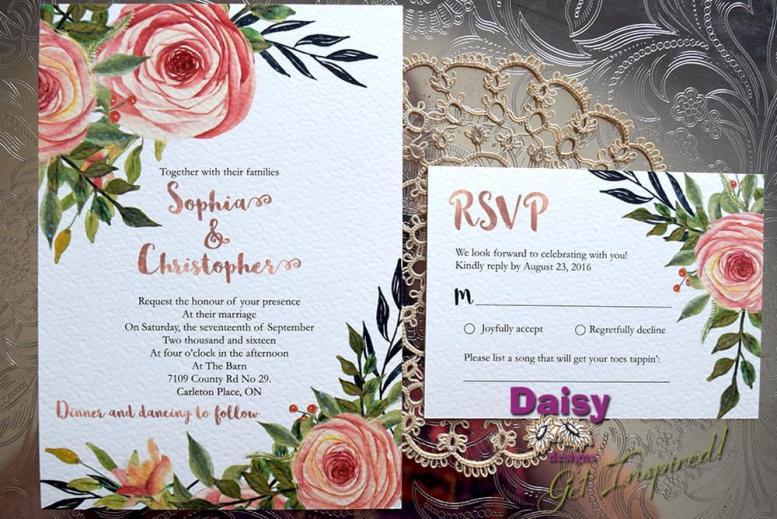 Peaches and Cream Invite and RSVP