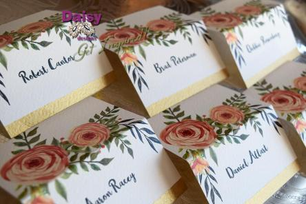Peaches and Cream Seating Cards