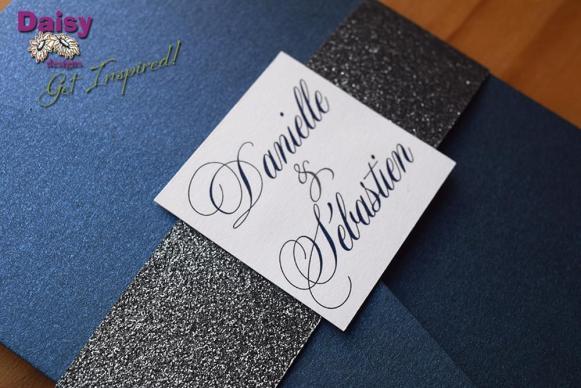 Platinum Glitter monogram close up