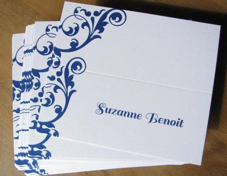 Simple Navy Seating Cards