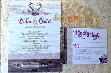 Barnboard and Blossoms invite suite