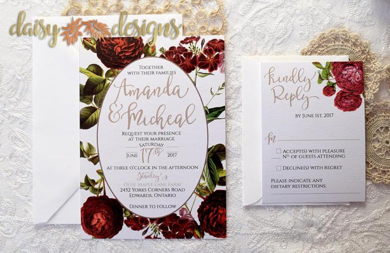 English Garden basic invite and rsvp