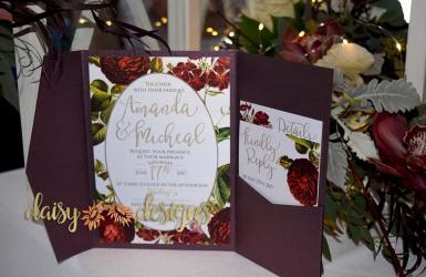 English Garden Pocket invite