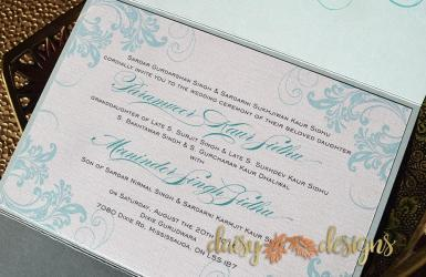 Simply Turquoise gatefold